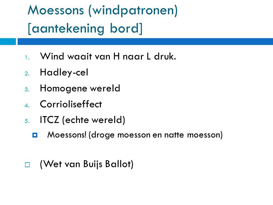 Moessons (windpatronen) [aantekening bord]